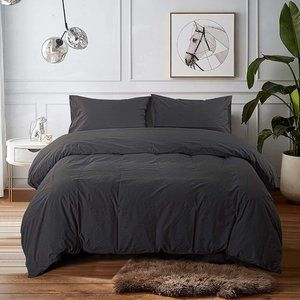 New Washed Cotton Duvet Cover Set-King